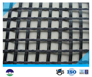 Chiny 80KN/M Black Fiberglass Geogrid with High Strength for Retaining Wall dystrybutor